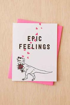 Greenwich Letterpress Epic Feelings Card