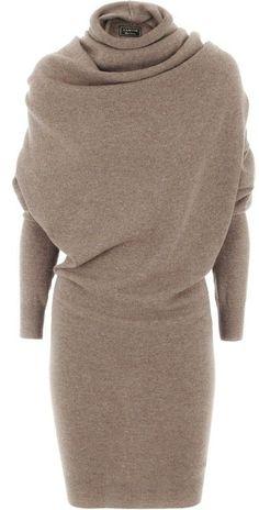 lanvin taupe wool cashmere dress. Abiti Con Le ManicheVestito Di LanaCamicia  ... 41f7a9dc0473
