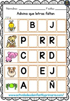 Bilingual Education, Kids Education, Vocabulary Activities, Preschool Activities, Spanish Teaching Resources, School Items, School Worksheets, Classroom Language, Indoor Activities For Kids