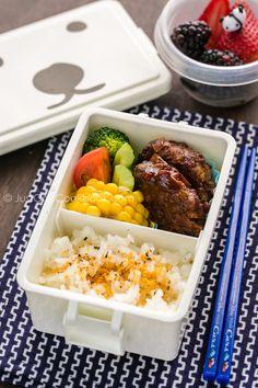 Hamburger Steak Bento ハンバーグ弁当 | Easy Japanese Recipes at JustOneCookbook.com