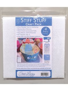 Interfacing & Stabilizers - Stiff Stuff Craft Pack 4/pkg. ~ great for small to medium projects ~ SEWING
