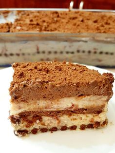 Greek Desserts, Greek Recipes, The Kitchen Food Network, Icebox Cake, Sweets Cake, Fudge Brownies, Sweet And Salty, Candy Recipes, How To Make Cake