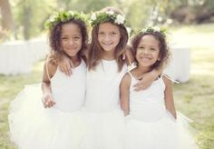 Sweet flower girls wearing tutus and floral headpieces. Photo by Sarah Kate, Photographer. Floral by Bows + Arrows. Garden Wedding, Boho Wedding, Wedding Gowns, Dream Wedding, Wedding Stuff, Wedding Fun, Wedding Attire, Wedding Flowers, Wedding Styles