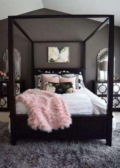 Pink Bedroom Decor, Pink Bedrooms, Room Ideas Bedroom, Bed Room, Diy Bedroom, Girls Bedroom, Design Bedroom, Bedroom Ideas For Tweens, Bedroom Wall