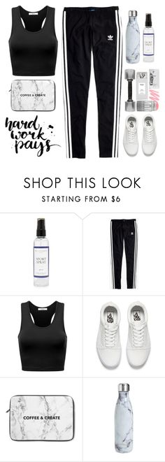 """Yoga🤸🏼‍♂️"" by trendsetter12 ❤ liked on Polyvore featuring The Laundress, Madewell, Vans and S'well"