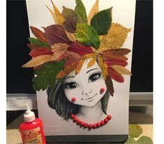Невероятно красивый портрет осени | OK.RU Fall Arts And Crafts, Autumn Crafts, Autumn Art, Nature Crafts, Creative Artwork, Creative Crafts, Toddler Crafts, Preschool Crafts, Art Et Nature