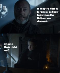 Davos acknowledges Lady Lyanna's badassery, By Via Pozzuoli.