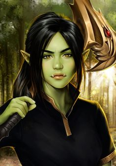 Isolde (Commission) by LenaBwolf on DeviantArt Girls Characters, Dnd Characters, Fantasy Characters, Female Characters, Fantasy Character Design, Character Concept, Character Inspiration, Character Art, Female Half Orc