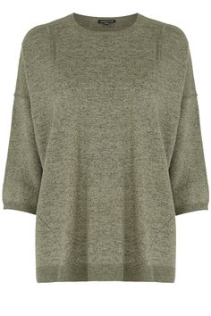 Jumpers & Cardigans | Green TWEED MIX BOXY JUMPER | Warehouse