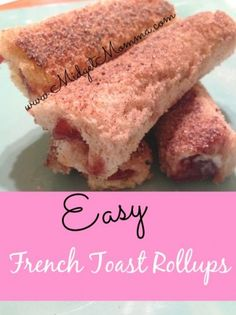 Make breakfast exciting with Easy French Toast Rollups just a few steps that are easy but will have the kiddos excited for something new. Can be filled with MANY different flavors so you can make them with the flavors you love!