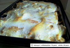 Almás guba Guam, Lasagna, Cheese, Chicken, Ethnic Recipes, Food, Essen, Meals, Yemek