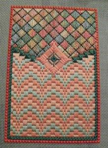 Tool Reticule Back Complete bargello needlepoint
