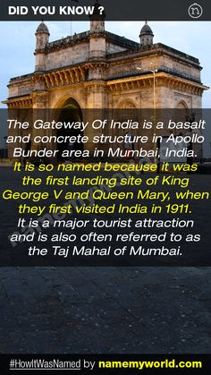 So how will you name your baby? Hint : Use our apps > bit.ly/NMWiphone / bit.ly/NMWandroid  #HowItWasNamed #GatewayOfIndia