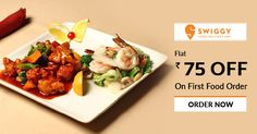 Order delicious food online and get flat Rs 75 at #Swiggy get more offers from http://bit.ly/2tEXg1F
