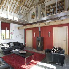 Modern timber living room