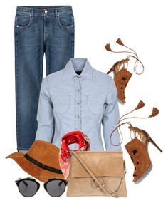 """""""Denim on Jeans"""" by pure-vnom ❤ liked on Polyvore featuring 7 For All Mankind, Aquazzura, Alexander McQueen and Christian Dior"""
