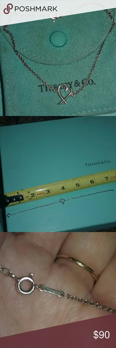 Tiffany bracelet 7 inch Good condition comes with pouch only. Authentic Tiffany & Co. Jewelry Bracelets