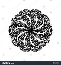 Mandala. Indian henna tattoo. Hand drawn ornament. Vector illustration.