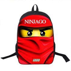 3d9dee7cde1b FAIRY SERAPHIM 16 Inch high quality lego ninja batman Backpack children  mochila school bag printing cartoon