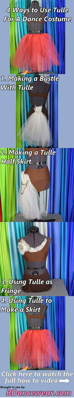 4 ways to use tulle for a dance costume.
