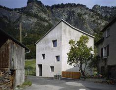 Wohnhaus Meuli, Fläsch Bauherrschaft, Claudia & Andrea Meuli, 2001, Bearth & Deplazes Architekten