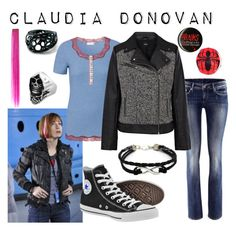 """Claudia Donovan- Time Will Tell"" by fandom-wardrobes ❤ liked on Polyvore featuring H&M, Intimissimi, Oasis, Converse, Manic Panic, warehouse 13, time will tell and claudia donovan"