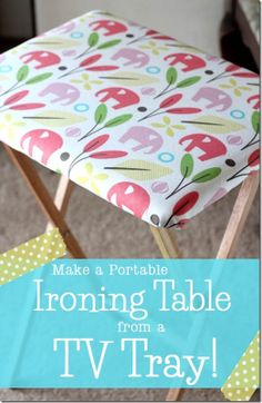 Crafty Cupboard  DIY Portable Ironing Table