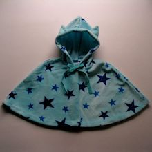 Baby cape - A warm cape with nekomimi (cat ears) - free pattern - gratis Schnittmuster