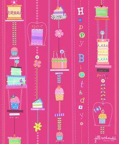 Birthday Cake Print by Jill McDonald Design