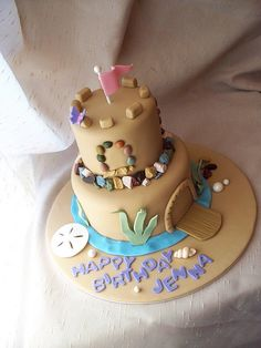 Sand Castle cake by Andrea's SweetCakes, via Flickr