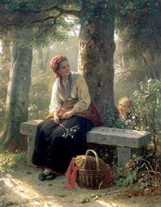 """Hide And Seek"" ... by Johann Georg Meyer von Bremen  1813 – 1886, German"