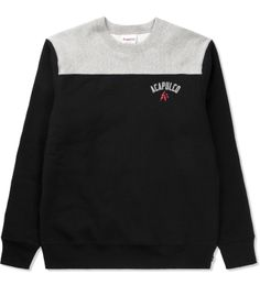 Acapulco Gold Black/Heather Football Sweater