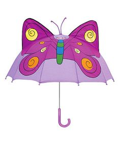 Rain rain will go away with the protective bubble of this umbrella! With its darling design, everything will be blue skies for a puddle jumper—even when the weather says otherwise! Pair with other Kidorable rain gear for a totally trendy look.