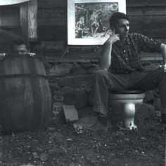 Dan Rice and Robert Creely, Black Mountain 1951. Jonathan Williams photograph.