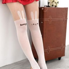 Buy '59 Seconds – Rabbit Print Two-Tone Tights' at YesStyle.com plus more Hong Kong items and get Free International Shipping on qualifying orders.