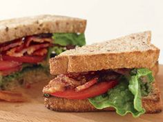 Bacon, Tomato and Pesto Sandwich - For those who say you can't improve on a good thing, here's the delectable proof. The time-honoured BLT goes Italian in this rapido rendition.