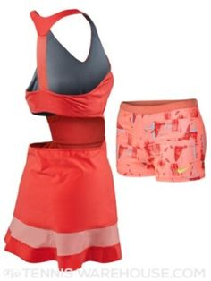 Maria Sharapova's Australian Open 2015 Nike dress - back Girls Tennis Skirt, Nike Tennis Dress, Nike Dresses, Sports Dresses, Tennis Tops, Beach Tennis, Sport Outfits, Tennis Outfits, Tennis Wear