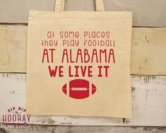 Tailgate Party Totes Personalized Tote Bags Tote Bags Any Team Party Favors Custom Cotton Totes Roll Tide Tote Monogrammed Bags 1521 by SipHipHooray