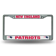 New! New England Patriots License Plate Frame Chrome Old Design #NewEnglandPatriots