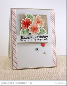 Diagonal Stripes Background, Modern Blooms, Pretty Poppies, Birthday Greetings, Blueprints 2 Die-namics, Blueprints 12 Die-namics, Blueprints 13 Die-namics, Modern Blooms Die-namics, Stitched Square STAX Die-namics - Jodi Collins   #mftstamps