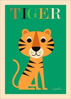 #Tiger #Poster 50x70 #Kidsroom by # Ingela P #Arrhenius from…
