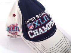 b12b6b62f3936 Details about Reebok New York Giants Super Bowl XLVI Champions Official  Locker Room Hat Capp