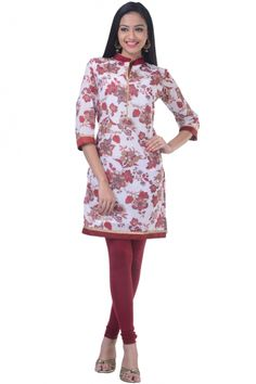 Off-white Swiss Cotton Printed Casual and Party Kurti Sku Code:12-4685KT635864 US $ 25.00 http://www.sareez.com/product_info.php?products_id=156383