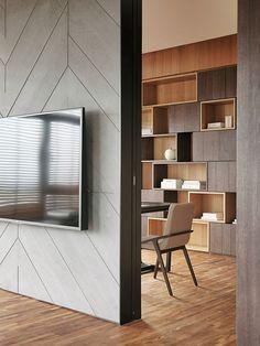 오늘은 친환경적이면서도 고급스러운 아파트 인테리어를 소개해 드려요 One Work Design(工一設計) 스튜디오가 리모델링한 대만 이란시에 있는 41평 아파트 입니다 스톤과 마블, 원목, 그리고 B&B Italia의 Michel..