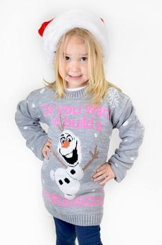 Need That Look - Childrens Grey Olaf Build A Snowman Christmas Jumper (http://www.needthatlook.com/childrens-grey-build-a-snowman-christmas-jumper/)