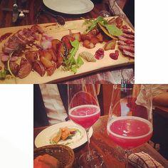 お花見して、スパ行って、締めはさくらワイン 幸せな週末‥‥♪  .  #beef #wine #drink #photo #food #love #happy #yummy #datenight #delicious #restaurant #amazing #foodpic #ワイン #肉