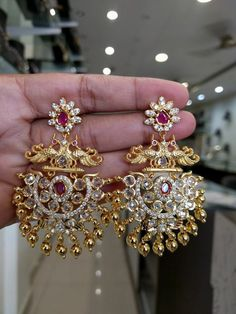 Jewelry Organization Tips jewelry bisuteria Jewelry Organizer. Gold Jhumka Earrings, Gold Earrings Designs, Gold Jewellery Design, Necklace Designs, Jewelery, Silver Jewelry, Jewellery Earrings, Silver Rings, Jewelry Logo