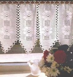 1000 images about ideas para cortinas on pinterest valances crochet curtains and window - Cortinas a ganchillo patrones ...