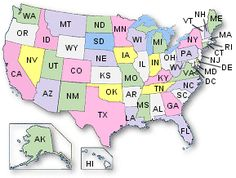 Map collections of the U.S. clickable by State