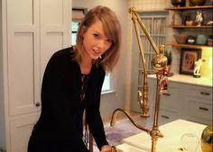 Waterstone Gantry Faucet   Brass   Taylor Swift Kitchen